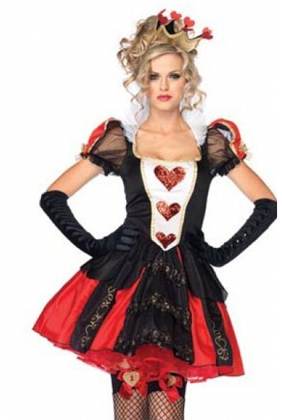 Plus Size Costume Xs-6xl Freeshipping New Alice In Wonderland Queen Of Heart Ladies Women Fancy Dress Costume Halloween Costume
