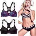2016 new lace bra set breve push up bra sexy girl forma Y de volta para as mulheres roupa interior definir fechamento frontal