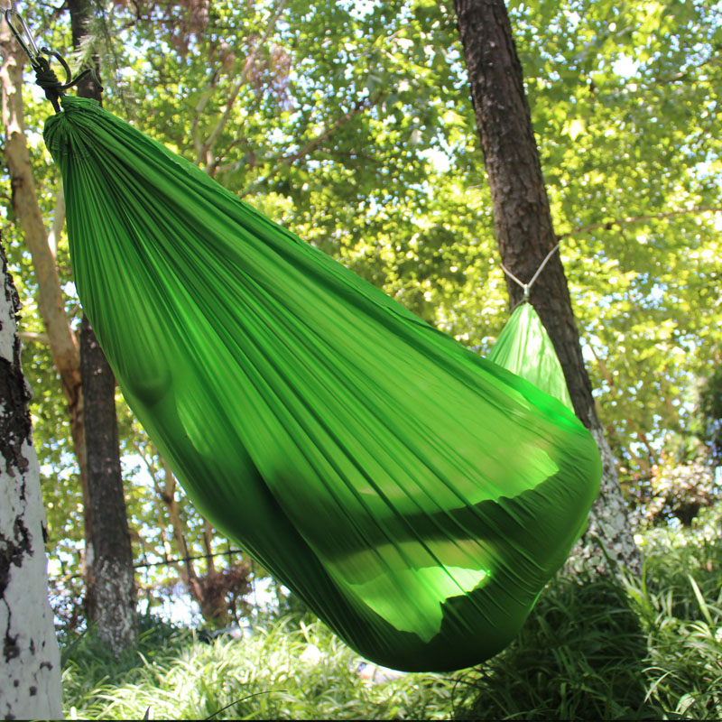 Double Single Outdoors Hammocks Lightweight Nylon Portable Hammock Best Parachute Hammock For Backpacking Camping Hiking in Hammocks from Furniture