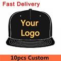10 unids personales de encargo insignia del bordado snapback gorras de béisbol unisex hombres mujeres sport sombrero entrega rápida pequeño moq fábrica directa
