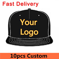 10pcs Custom Personal Embroidery Logo Baseball Snapback Caps Unisex Men Women Sport Hat Fast Delivery Small MOQ Factory Direct