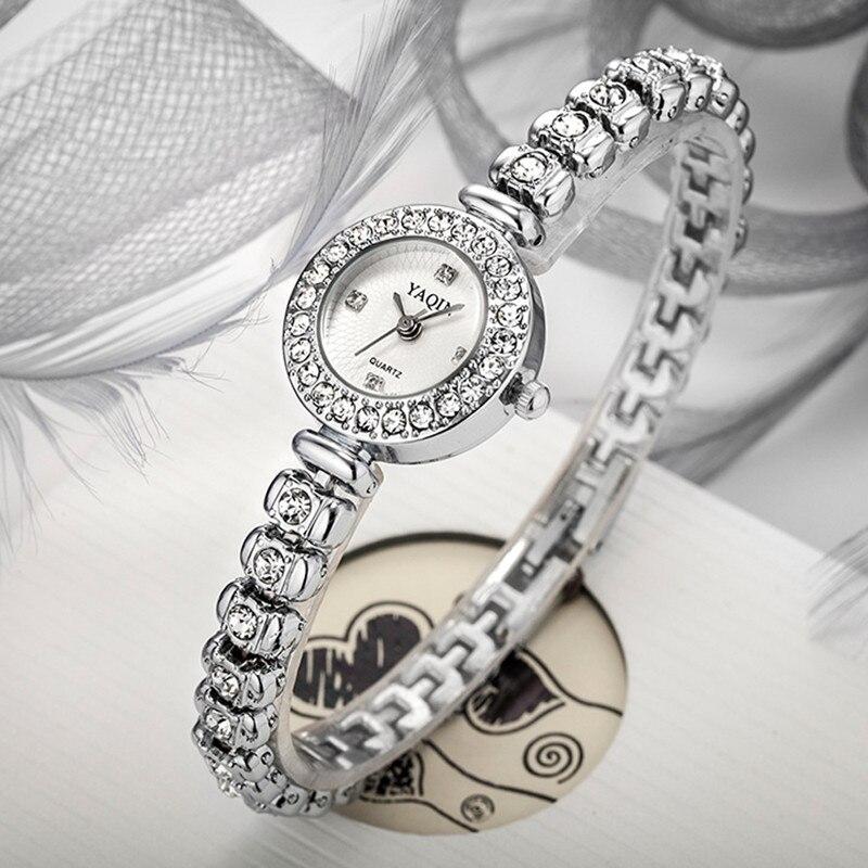 YAQIN Luxury Brand Watches Women Women Stainless Steel Quartz Watches Fashion Casual Watches Relojes Mujer relojes mujer 2018 fashion watch women brand casual women sports watches led military digital quartz womens dress wrist watches
