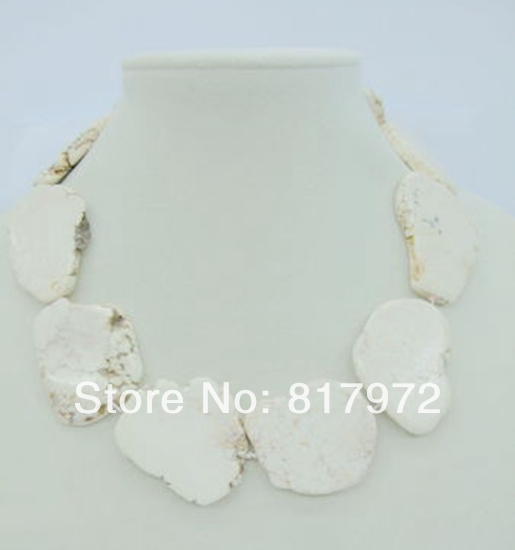 Charm Special Design Dazzling White stone Schistose Handmake Necklace Simple Style Woman Party