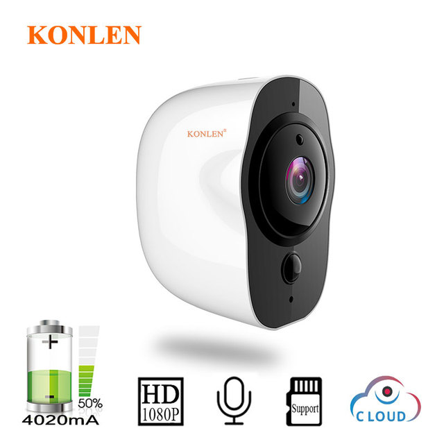 Battery Operated Security Camera >> Konlen Battery Powered Wireless Security Camera Ip Wifi 1080p Hd