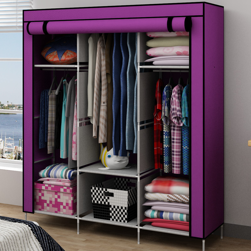 Bon Simple Dust Cloth Woven Wardrobe Closet Wardrobe Storage Cabinets Can Be  Linked To Large Capacity Strengthening Regional Shippin