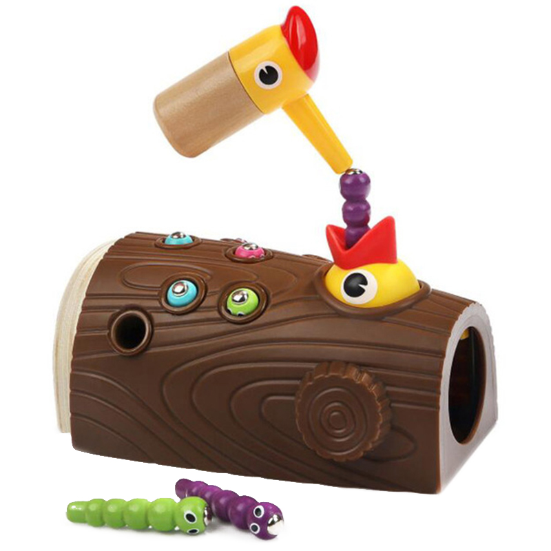 Woodpecker Feeding Game Magnetic Capture Hand Eye Coordination And Fine Motor Skills Early Education Puzzle Children Toys