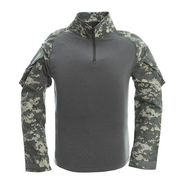 Nouveau Multicam uniforme militaire à manches longues t-shirt hommes Camouflage armée Combat chemise randonnée Paintball vêtements chemise tactique