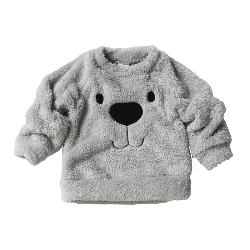 2018 Winter Fashion Baby Boy Girls Bear Furry Casual White Coat Casual Warm Sweater Pullover Top Blouse Cardigan недорго, оригинальная цена