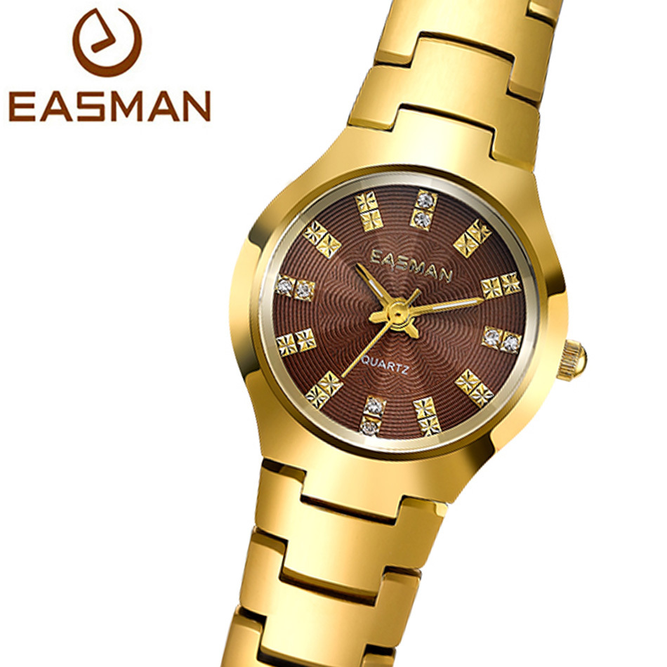 EASMAN Watch Brand Women Gold Watch Tungsten Steel Watch Luxury Ladies Quartz Watch Designer Wristwatches Hot