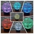 Deadpool Ilusión 3D USB/Batería LLEVÓ la Lámpara de Luz de La Noche de 7 colores de Navidad con Botón Táctil Dormitorio de Los Niños Escritorio de la Tabla iluminación