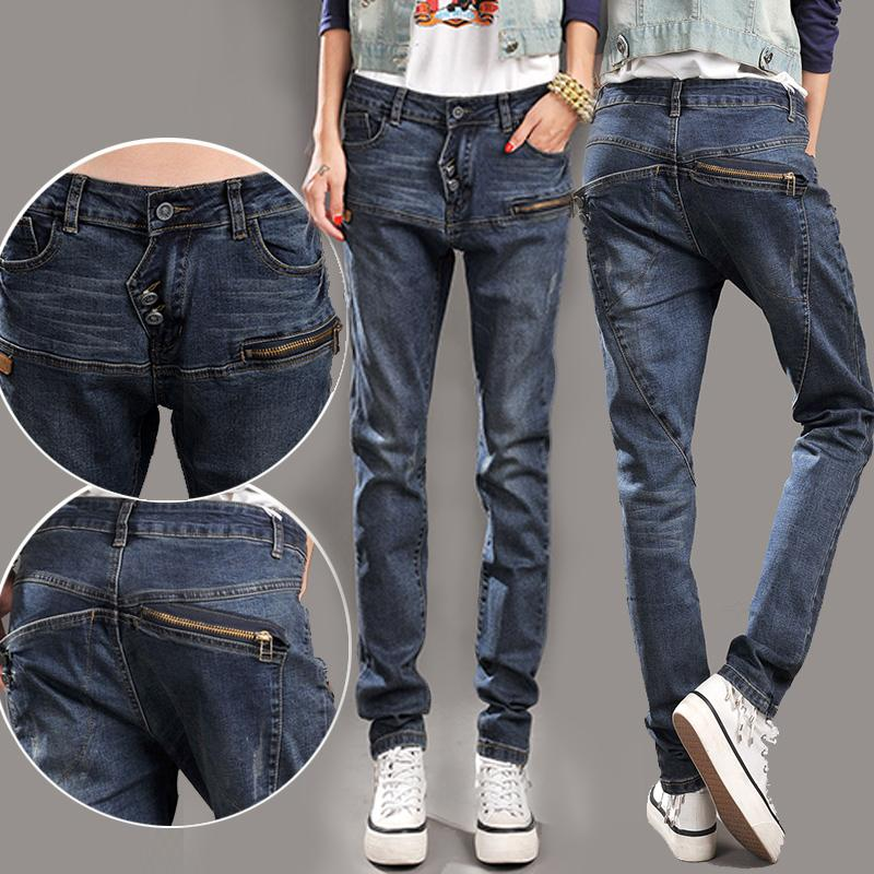 2015 Spring jeans sub trousers loose large size women s casual pants female feet cheap clothes