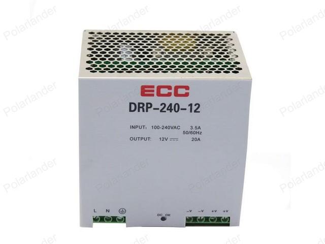 Conductor Del LED Fuente De Alimentación Conmutada rail AC/DC 12 V 20A dual Transformador de Tensión de salida para la Exhibición Led Strip cartelera