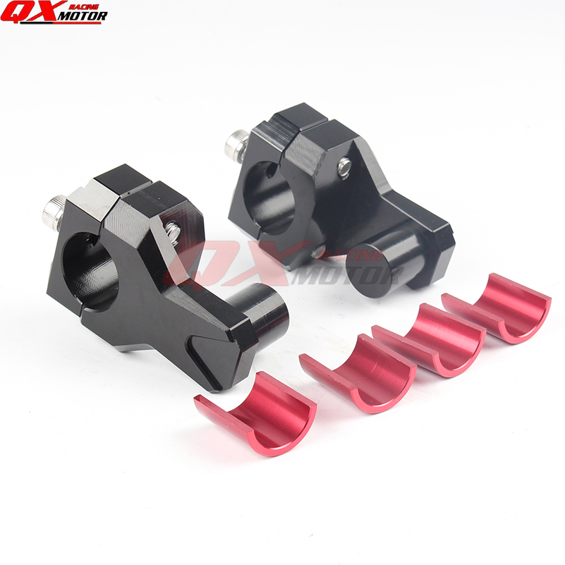 Billet Motorcycle <font><b>Handlebar</b></font> Clamps <font><b>Riser</b></font> 22mm <font><b>28mm</b></font> Bars Clamp handle bar <font><b>risers</b></font> for suzuki for yamaha for bmw Anodized Pivoting image
