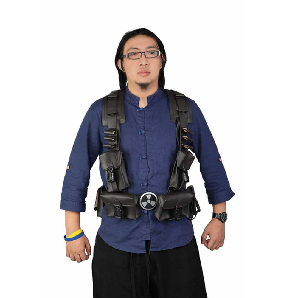 Xcoser Duke Of Doom Cosplay Pu Kostum Alat Peraga Satu Ukuran dan Cocok untuk Sebagian Besar Orang Duke Nukem Halloween kostum Cosplay