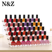 2015 New Promotion Makeup Cosmetic 6 Tiers Clear Acrylic Organizer Mac Lipstick Jewelry Display Stand Holder