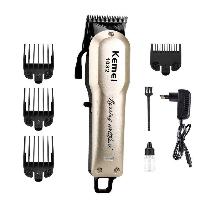 903d1f33d 100-240 V máquina de cortar cabelo barba kemei profissional poderosa  máquina de barbear cabelo