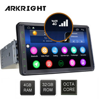 7 4+32gb 1 din Android Car Radio Built in 4G/4G SIM card Multimedia Player GPS/autoradio/car DVD player/ Hotspot sharing
