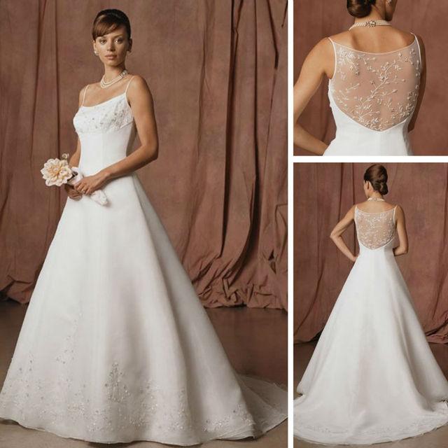 WM061 2012 Crochet Pattern Lace Vintage Backless Corset Wedding ...