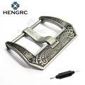 HENGRC Retro Watch Band Buckle 20mm 22mm 24mm 316L Agulha Fecho De Metal Em Aço Inoxidável com Pulseira de Couro Para Acessórios Panerai