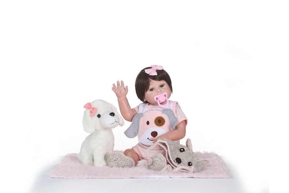 NPK силиконовая кукла Reborn для девочек, Реалистичная кукла, детские куклы на день рождения, Рождество, подарок Reborn bonecas