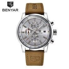 Marca de Lujo BENYAR Deporte Hombres Reloj Impermeable Fecha Display Relogio Masculino masculino Reloj del Hombre Al Aire Libre Deja de Relojes de pulsera de Regalo