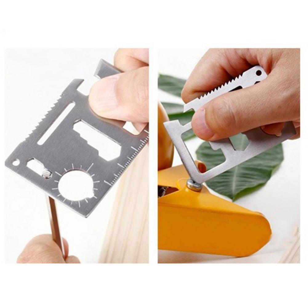 Outdoor Multifunction Stainless Steel Card Edc Tool Camping Universal Life-saving Tool Switzerland Saber Pocket Card Multi Tool