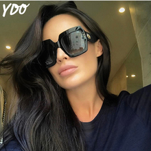 YDO 2018 New Stylish Oversized Square Sunglasses Women Luxury Brand Designer Big Frame Shades Fashion Rivet Sun Glasses Eyewear
