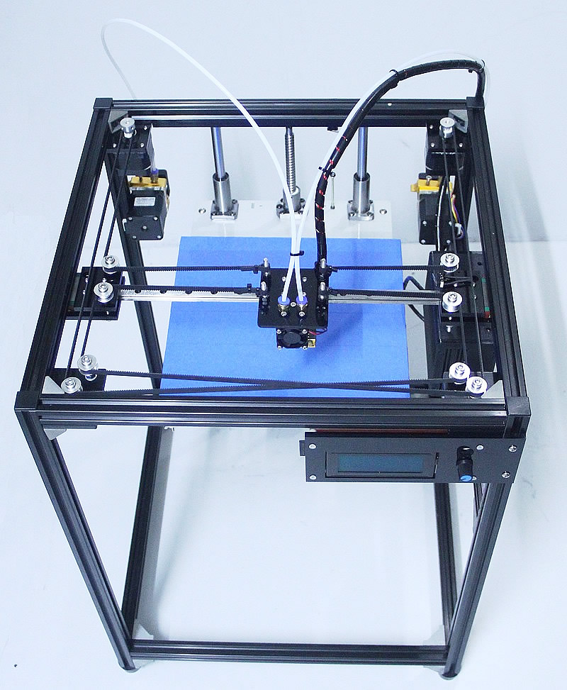 Ifancybox3 double grande taille corexy 3D Imprimante kit ifancybox Machine imprimante 3D Rampes noir corexy Kit Complet 3d imprimante double extrudeuse
