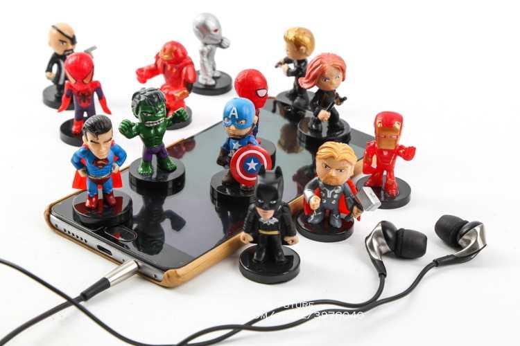 ディズニーマーベルアベンジャーズアイアンマンハルクthanosさん12ピース/セットqバージョンアクションフィギュアアニメコレクション置物玩具モデル用子供