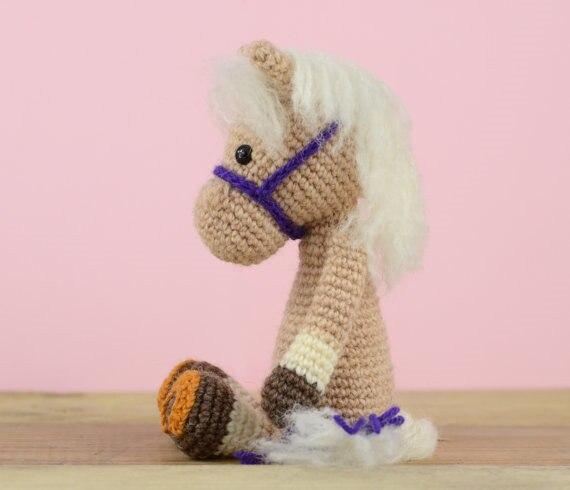 Gehaakte Paard baby rammelaar speelgoed pop gift 5