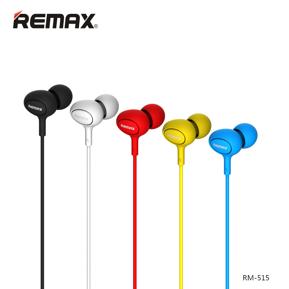 Original Remax 515 High sound quality Stereo Earbuds Auriculares Earphones With Microphone For All Mobile Phone Call And Music high quality 3 5mm earphones clear sound earphone with microphone for mobile phone xiaomi samsung iphone