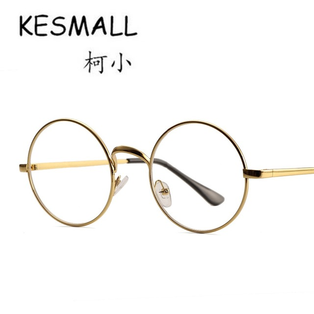 KESMALL 2018 Glasses Frame Men Women Round Cycle And Big Frame ...