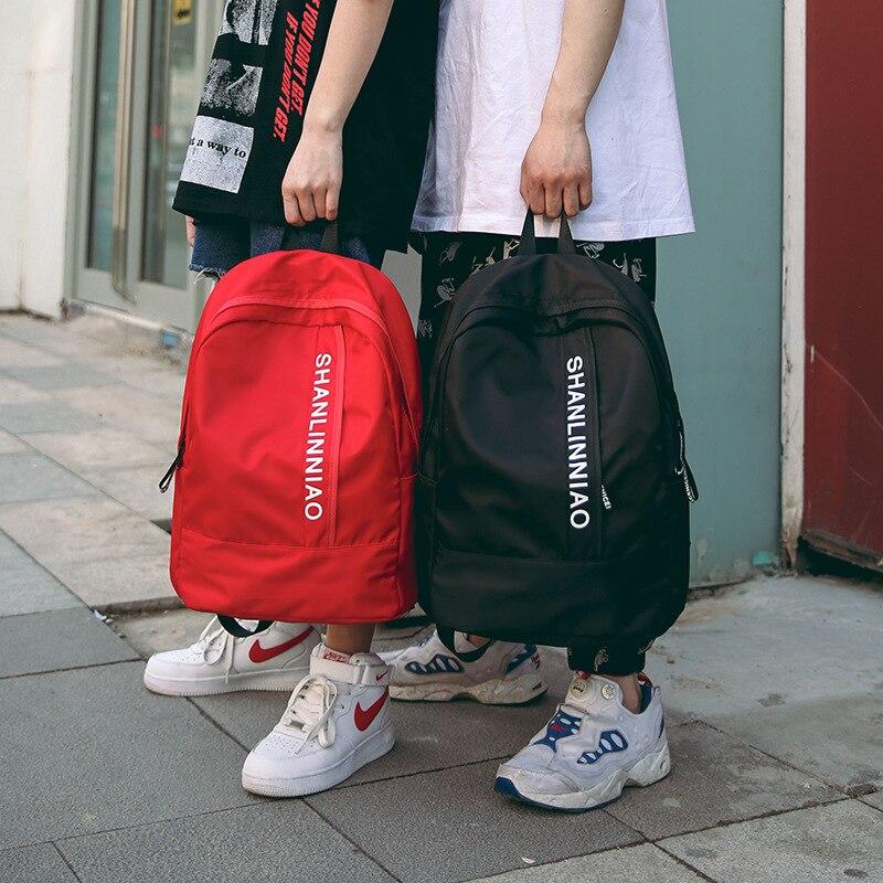 Школьная сумка для подростков, рюкзак Оксфорд для мальчиков и девочек, мужская повседневная большая школьная сумка, синий и красный цвета|Школьные ранцы|   | АлиЭкспресс