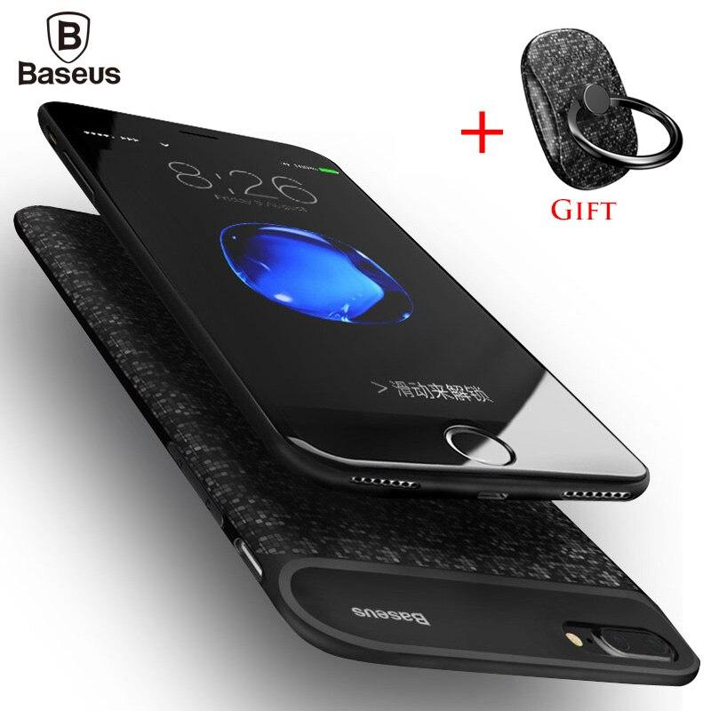 imágenes para De Baseus 5000/7300 mAh Caso del Cargador de Batería de Reserva Externo Para el iphone 7 7 Plus Caso Banco Portable para el iphone 7 Más