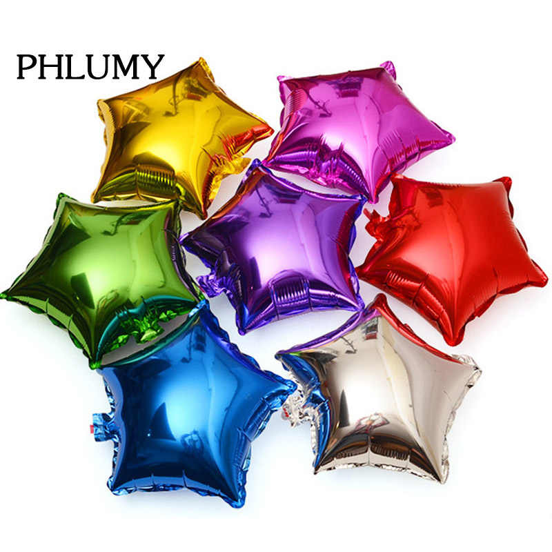 5pcs 10 inch Five point Star Foil Balloons Wedding Birthday Party Christmas Engagement Large Aluminum Inflatable Gift Decoration