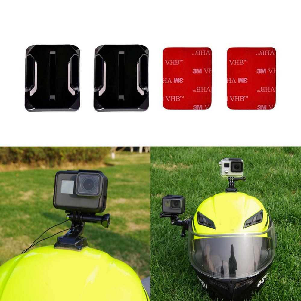 Helmet 3M Adhesive Pads Sticker curved Mounts Accessories kit for GoPro HERO 5 4 3 3