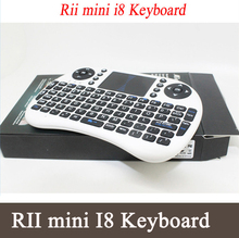 Rii i8 Keyboard English Air Mouse Multi-Media Remote Control Touchpad  for Android TV& Laptop Tablet Mini PC Raspberry Pi 3