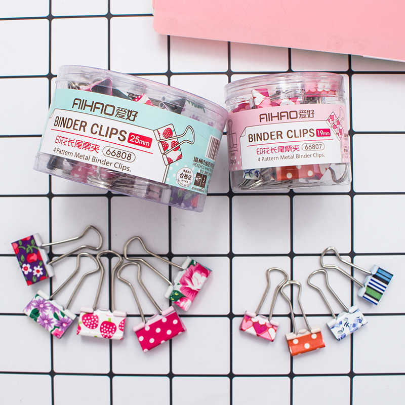 4 Set Lot Floral Metal Binder Clips Mini Binding Clips For Paper