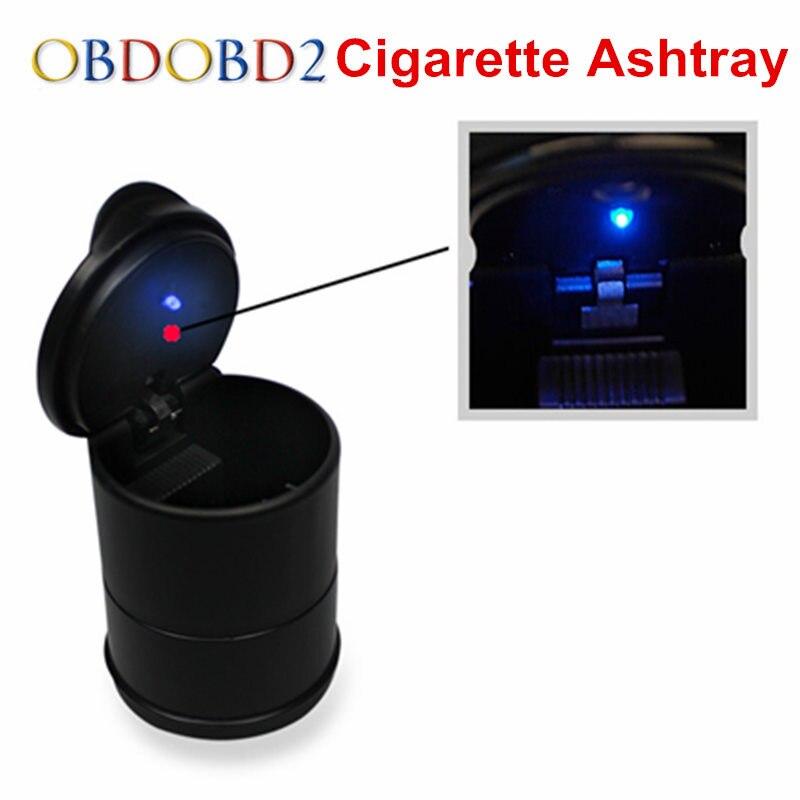 Auto Car Cigarette Smoke Ashtray BLUE LED Light Ash Cylinder Cup Holder Newest PBT Material Car Interior Useful Design