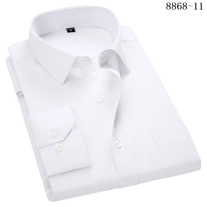 HTB1KhtPWkvoK1RjSZFwq6AiCFXaq 4XL 5XL 6XL 7XL 8XL Large Size Men's Business Casual Long Sleeved Shirt White Blue Black Smart Male Social Dress Shirt Plus