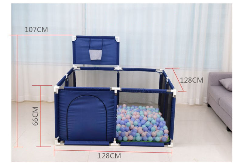 Baby Playpen Made With Stainless Steel Tube For Baby Pool Balls 10