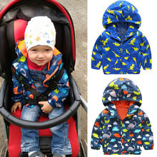 Kid Boys Children Waterproof Windproof Hooded Rain Coat Jacket Outerwear Clothes