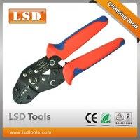 Behuizing tip tang DN-06WF Krimpen Handgereedschap met ratel betekent 0.25-6mm2 30-10AWG crimper tangen