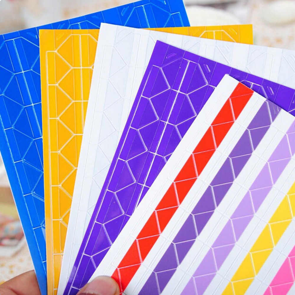 408 قطعة/4 مجموعة بسيطة وعملية الملونة الزاوية ورقة ملصقات للصور ألبومات الصور إطار سكرابوكينغ ديكور المنزل