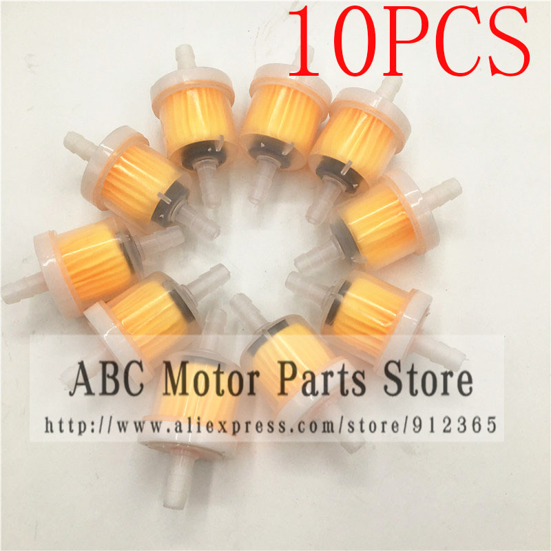 MAIZHI 10pcs/pack Petrol Gas Fuel Filter With Magnet For Pit Dirt Bike Mini Moto Quad ATV Motorcycle Motocross