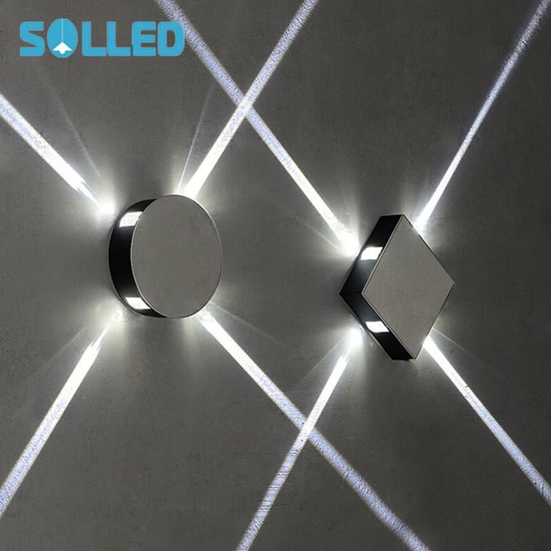 SOLLED Modern Simple 85 265V LED Cross Narrow Beam Aisle LED Wall Lamp Bedroom Corridor Staircase Indoor Spot Lights