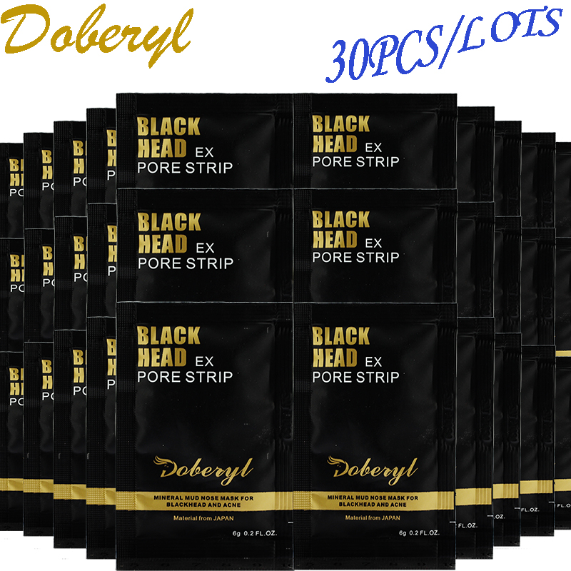 30Pcs/lots Black Mask Blackhead Acne Remover Deep Cleansing Purifying Close Pores Face Mask