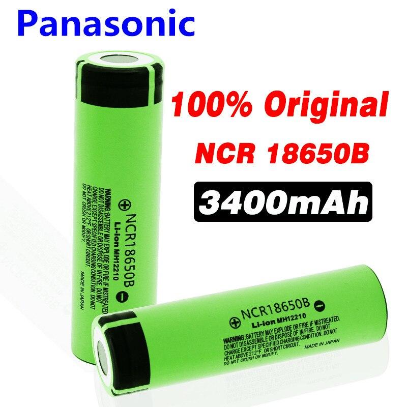 Panasonic 100% New 18650 Battery 3400mah 3.7v Lithium Battery For NCR18650B 3400mah Suitable For Flashlight Battery
