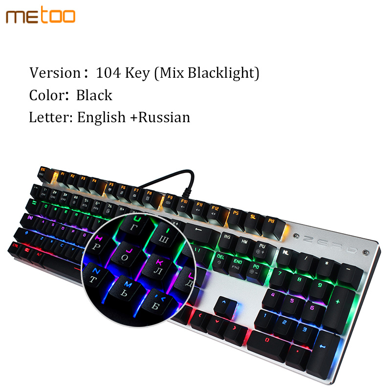 Computer Green Axis Game Esport Keyboard -108 Keys//Black and White Computer Accessories DR Color : B Punk Retro Mechanical Keyboard