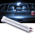2x 12V Car 15 LED 5630 SMD Hard Rigid LED Strip Car Interior Light Strip Lamp Bar Light with U Aluminium shell +pc cover